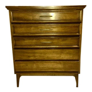 Dixie Mid Century Modern Pecan Highboy For Sale