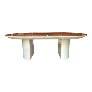 Late 20th Century Lacquered Goatskin Dining Table For Sale