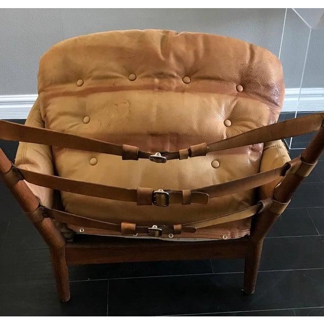 Animal Skin 1960s John Mortensen for Magnus Olesen Model 4521 Lounge Chair For Sale - Image 7 of 10