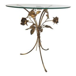 1960s Hollywood Regency Hans Kögl Lower Gilt Metal Side Table For Sale
