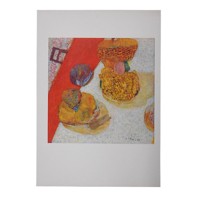 Vintage Bonnard Lithograph For Sale