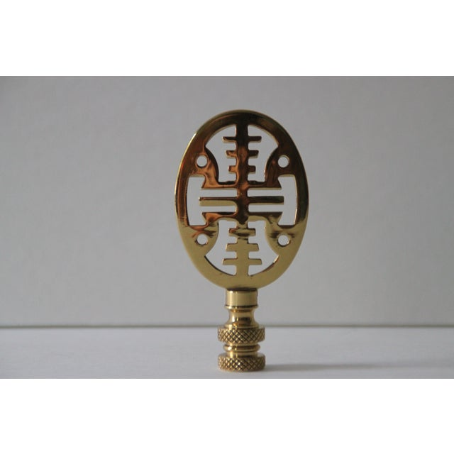 Asian-Style Brass Lamp Finials - Pair - Image 3 of 4