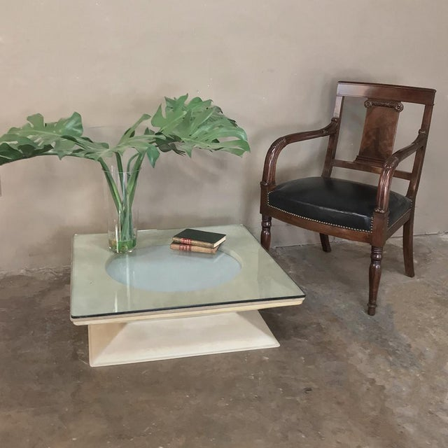 Contemporary Mid-Century Modern Illuminated Coffee Table From m.i.m. Roma Circa 1970s For Sale - Image 3 of 10