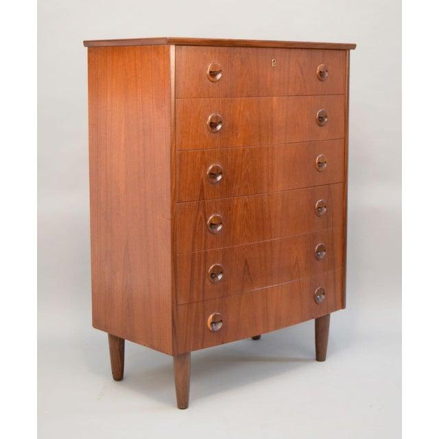Kai Kristiansen Danish Teak Bow-Front Dresser - Image 4 of 11