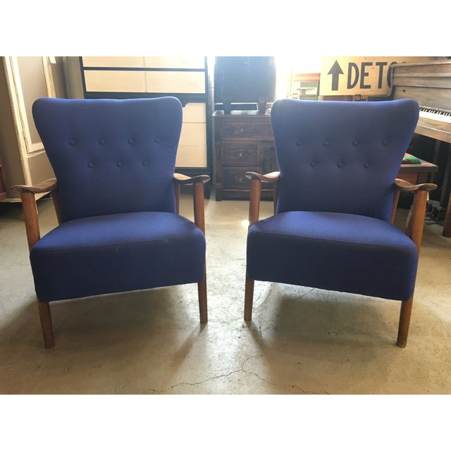 Danish Mid-Century Modern Loungers - A Pair - Image 2 of 3