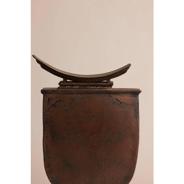 Signed Christian Faillat Ste Cecile Pottery Piece - Image 2 of 3