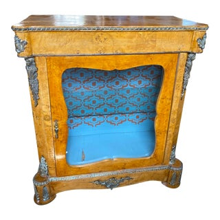 Antique French Curio Cabinet With Bronze Fixtures For Sale