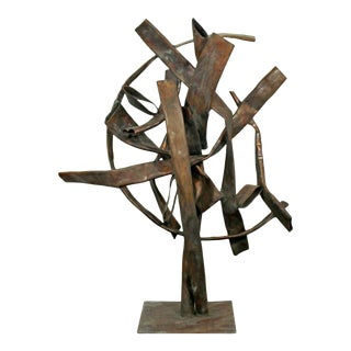 Contemporary Forged Copper Abstract Table Sculpture Signed Robert Hansen 2016 For Sale