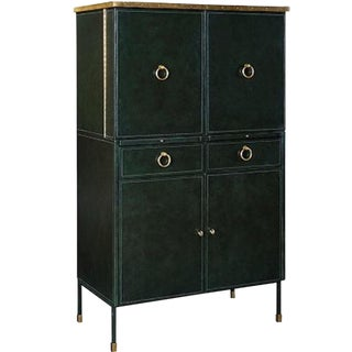 Transitional Henredon Celerie Kemble for James Bar Cabinet For Sale