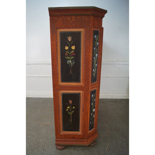 French Style Hand Painted Armoire Cabinet - Image 3 of 10