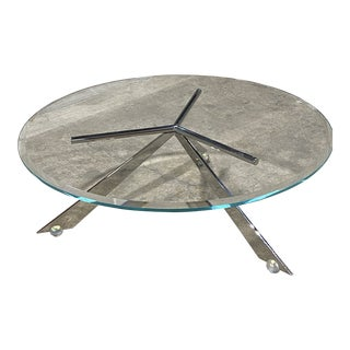 J. Wade Beam for Brueton Cristal Coffee Low Table For Sale