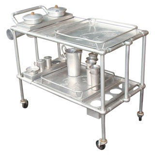 Vintage Everlast Aluminum Serving or Bar Cart For Sale