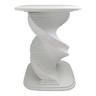 Vintage Spiral Helix Wood Pedestal For Sale