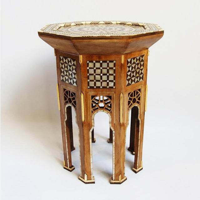 Moroccan Inlay Side Table - Image 2 of 4