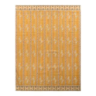 Rug & Kilim's Scandanavian Style Kilim Rug in Beige and Yellow Geometric Pattern