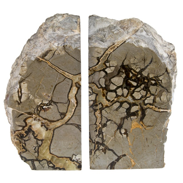 Polished Septarian Stone Bookends - A Pair - Image 3 of 5