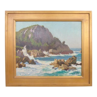 "Vintage Nautical Seascape Painting ""Seas Off Bermuda"" by Michael Clinton For Sale"