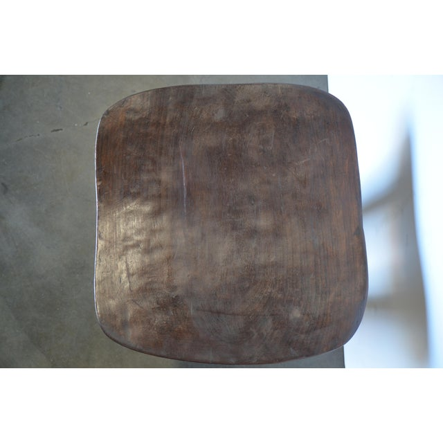 Senufo Modern Wood Stool From Africa For Sale In Los Angeles - Image 6 of 8