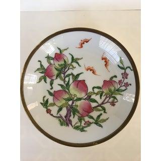 Vintage Japanese Brass Encased Porcelain Bowl/Catchall Preview