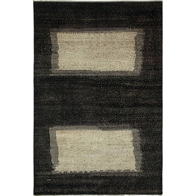 """New Gabbeh Hand-Knotted Rug - 6'6"""" x 9'8"""" - Image 1 of 3"""