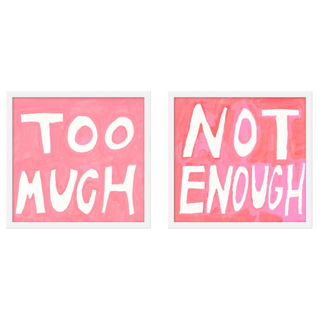 "Small ""Too Much/Not Enough, ""Print by Virginia Chamlee, 40"" X 19"" - Set of 2 For Sale In San Diego - Image 6 of 6"