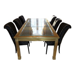 Mastercraft Brass & Glass Dining Set