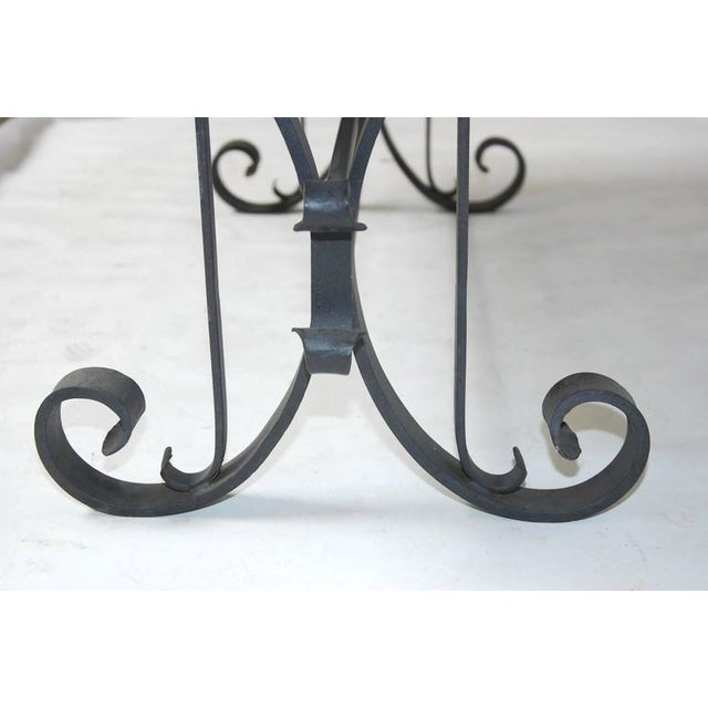 Italian Wrought Iron and Black Marble Dining Table For Sale In San Francisco - Image 6 of 10
