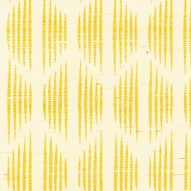 Contemporary Schumacher X David Oliver Ovington Sisal Wallpaper in Yellow For Sale - Image 3 of 3