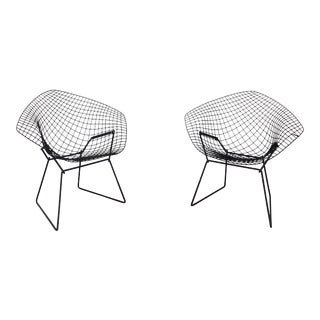 1950s Mid-Century Modern Bertoia Diamond Chairs - a Pair For Sale
