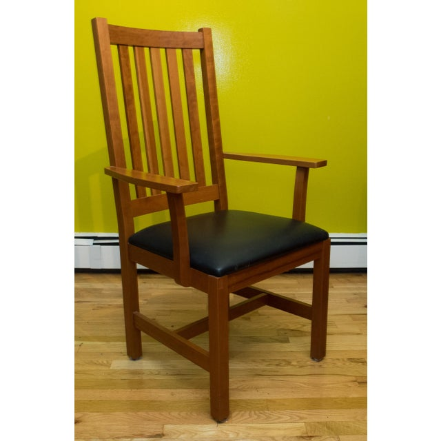 Wood Mission Style Brazillian Cherry Wood Dining Set From Crate & Barrel For Sale - Image 7 of 9