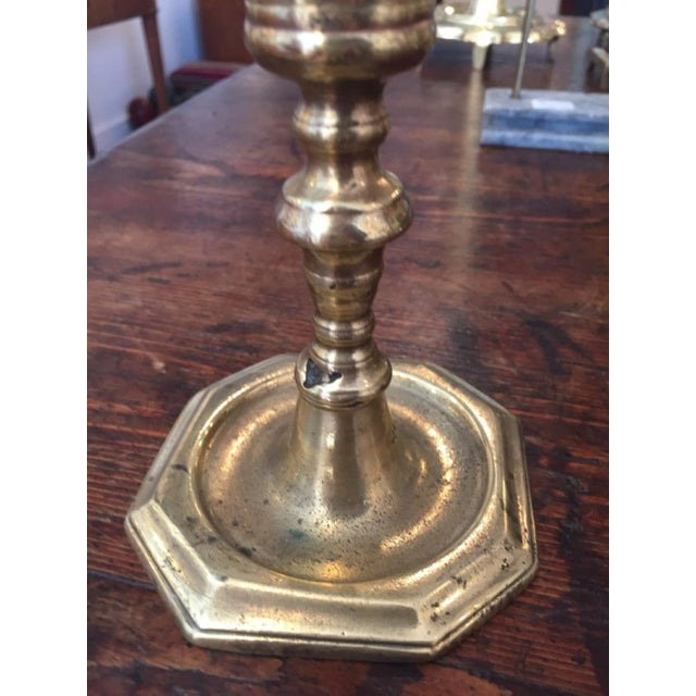 19th Century Empire Style Brass Candlestick For Sale - Image 4 of 6