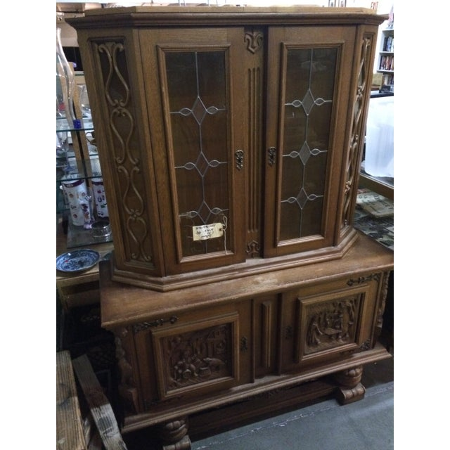 Austrian Hand-Carved Antique China Cabinet - Image 3 of 8