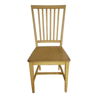 Modern Crate & Barrel Yellow Village Dining Chair For Sale
