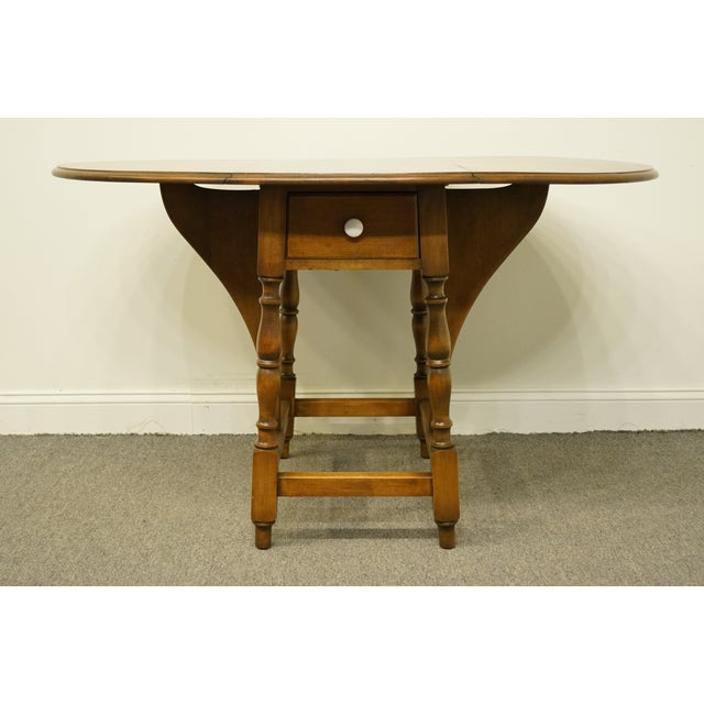 20th Century Country Jamestown Ny Solid Walnut Maddox Table For Sale - Image 9 of 13