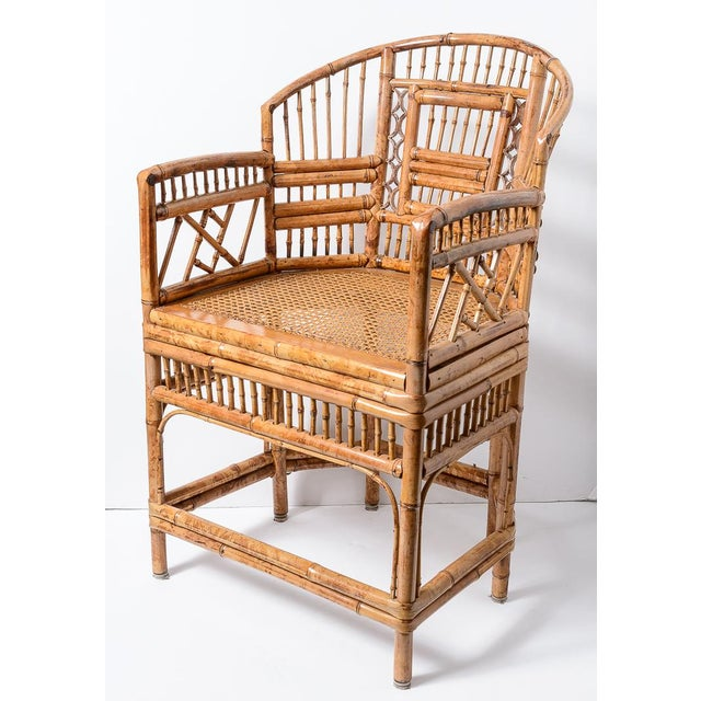 Chippendale Brighton Bamboo Barrel Chairs, A-Pair For Sale - Image 3 of 13