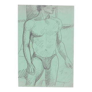 1970s Male Nude by James Bone For Sale
