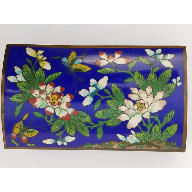 Brass Antique Chinese Cloisonne Box For Sale - Image 7 of 11