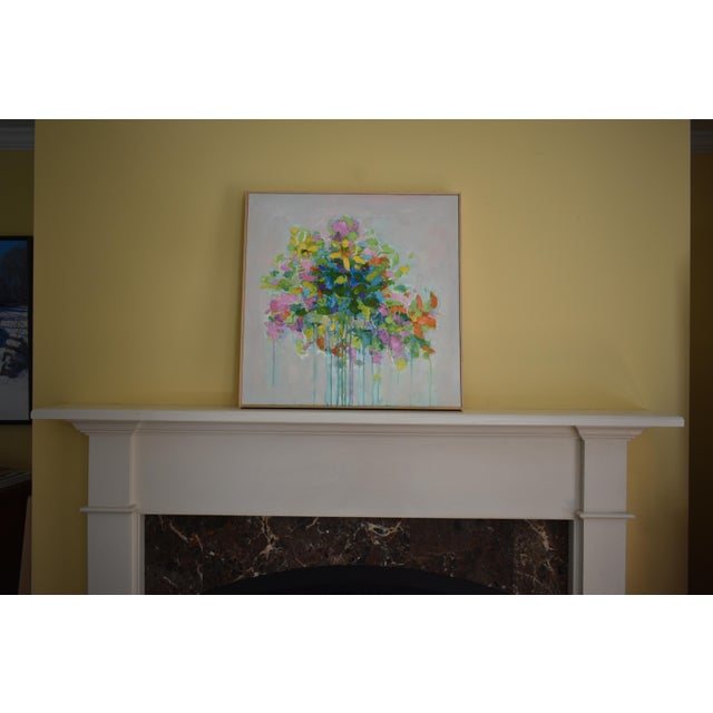 """Abstract """"Bouquet on Light Gray Ground"""" Painting by Stephen Remick For Sale - Image 9 of 11"""