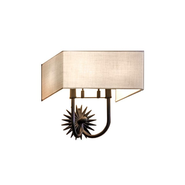 Contemporary Crenshaw Lighting Sunburst Wall Sconce For Sale - Image 3 of 3