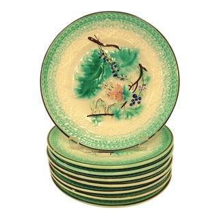 Antique Porcelain Plates With an Asian Design - Set of 8 For Sale