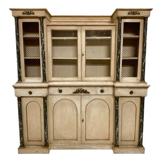 French Neo-Classical Painted Cabinet For Sale