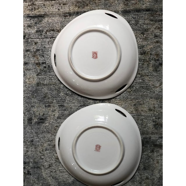 Midcentury Pair of Chinoiserie Noritake Triangular Plates With Handles For Sale In Atlanta - Image 6 of 13