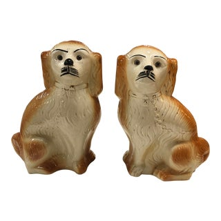 1880 Staffordshire Dogs - a Pair For Sale