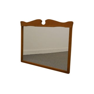 "French Country Solid Ash 42"" Dresser / Wall Mirror For Sale"