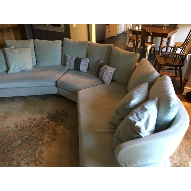 Vintage Mid Century Modern Curved Sectional Couch B&b Italia Style For Sale - Image 10 of 11