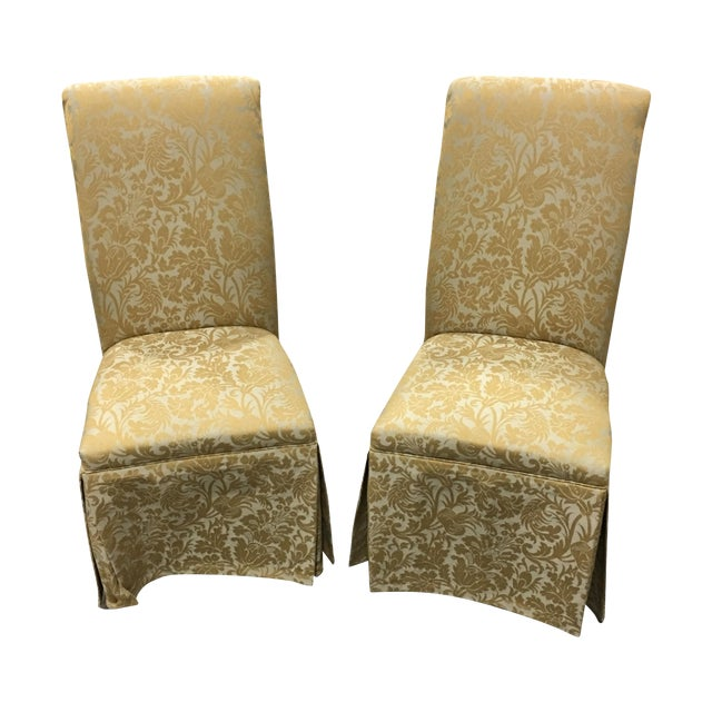 Ornate Accent Chairs - A Pair - Image 1 of 5