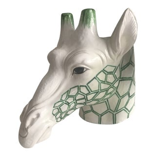 1960s Figurative Ceramic Giraffe Planter For Sale