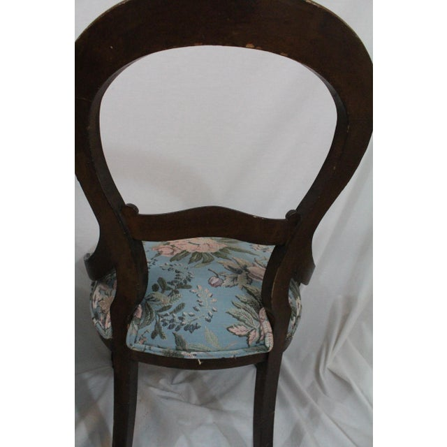 Antique Blue Needlepoint Chairs - A Pair For Sale - Image 4 of 10