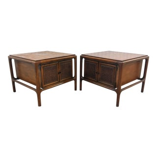 1960's Mid Century Modern Scultpural Walnut End Tables - a Pair For Sale