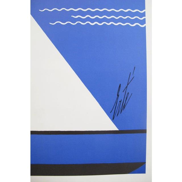 Erté 1978 Erte Exhibition Poster, Art Deco Sailing For Sale - Image 4 of 4